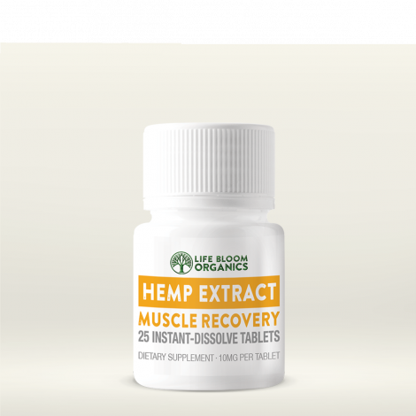 Life Bloom Organics CBD Instant-Dissolve Tablets - Muscle Recovery Formula