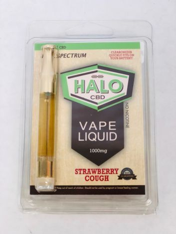 Strawberry Cough - Halo CBD Vape Cartridge (1000mg)