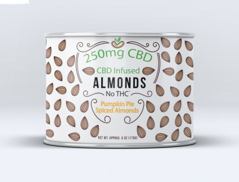 Sun Farm CBD Infused Pumpkin Pie Spiced Almonds 6 oz  - 250mg
