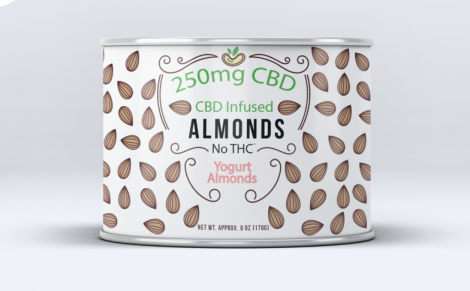 Sun Farm CBD Infused Yogurt Almonds 6 oz  - 250mg