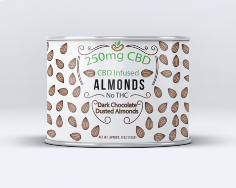Sun Farm CBD Infused Dark Chocolate Dusted Almonds 6 oz  - 250mg